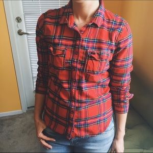 Abercrombie and Fitch flannel button down …